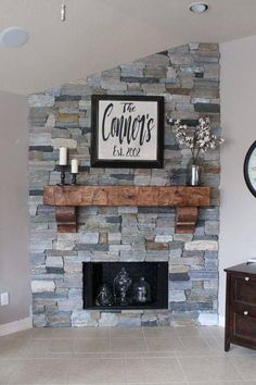 Fireplace Mantel 66 8243 with Corbels Chunky Rustic Hand Hewn Solid Pine 8 by 8 by 5 1 2 Feet Long Fireplace Mantel 66 8243 with Corbels Chunky Rustic Hand Hewn Solid Pine 8 by 8 by 5 1 2 Feet Long Dianemrobbie nbsp hellip Farmhouse Fireplace Mantels, Brick Fireplace Makeover, Rustic Fireplaces, Home Fireplace, Fireplace Remodel, Living Room With Fireplace, Fireplace Design, Fireplace Ideas, Corner Fireplaces