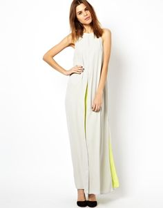 For the glamour girl... ASOS Slit Front Contrast Maxi Dress