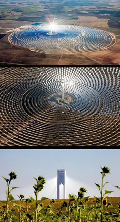 Stunning images of one of the many solar farms on Spain's Iberian Peninsula.