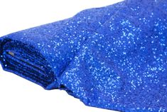 10 yards GLITZ Sequins Fabric Bolt - Royal Blue ● As Low as $87.99 ● Available from www.cvlinens.com