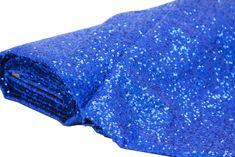 10 yards GLITZ Sequins Fabric Bolt - Royal Blue