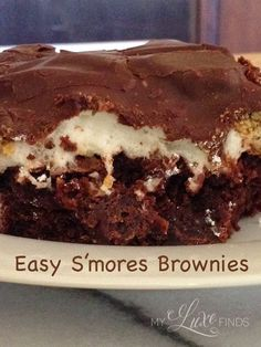 Super Easy S'mores Brownie Recipe