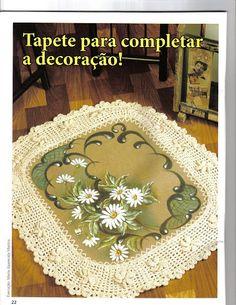 Revista pintura e crochê