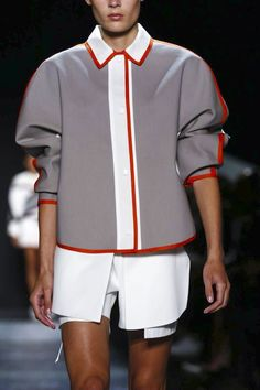 Public School Ready To Wear Spring Summer 2016 New York Live Fashion, Fashion Brand, Fashion Show, Runway Fashion, Fashion 2016, School Fashion, Spring Summer 2016, Public School, Cheer Skirts