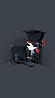 fun pirate hacker iPhone Wallpapers