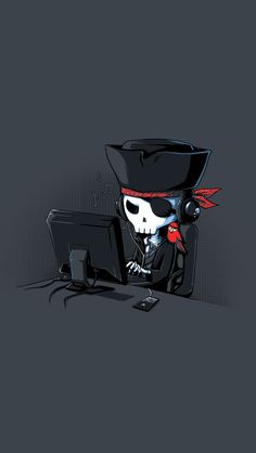 fun pirate hacker #iPhone #5s #wallpaper