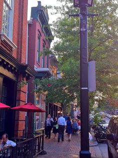 The very walkable Old Town Alexandria.