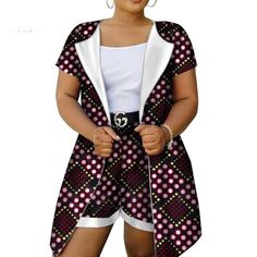 African Style Women Shorts Set For Women Bazin Plus Size African Set Tops + Shorts Women Traditional African Clothing - 4 / M African Wear, African Attire, African Dress, African Style, Ankara Dress, African Inspired Fashion, Latest African Fashion Dresses, African Print Fashion, African Print Pants
