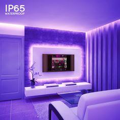 Neon Bedroom, Room Ideas Bedroom, Neon Lights Bedroom, Lights For Room, Cool Bedroom Ideas, Bedroom Decor, Dream Rooms, Dream Bedroom, Purple Tumblr