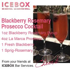 Blackberry Rosemary Prosecco Cocktail - #chas #specialtycocktail #cheers