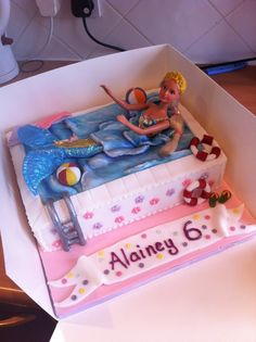 Barbie Swimming Pool cake