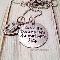 Mother/Son+necklace++'Sons+are+the+anchors+of+a+by+FarrarCreations,+$30.00