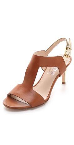 Gorgeous low heels! - KORS Michael Kors Xyla Low Heel T Strap Sandal