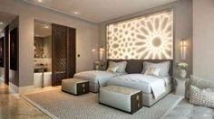 Intérieur de chambre avec éclairage reflété, visualisation Amir Cherni