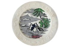19th-C. Children's ABC   Plate on OneKingsLane.com