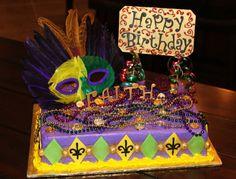 Mardi Gras/ Birthday Cake