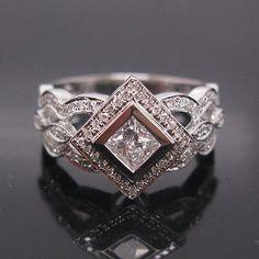 Princess Engagement Ring Setting Princess Cut Semi par MRoseDesign