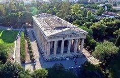 Drone μαγεία: Ο πιο καλοδιατηρημένος αρχαίος ναός της Αθήνας, από ψηλά