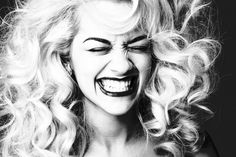 Image shared by Rita Ora. Find images and videos about black and white, smile and rita ora on We Heart It - the app to get lost in what you love. Rita Ora Tour, Curly Hair Tips, Curly Hair Styles, Rita Ora Pictures, Silly Pictures, Portraits, Hollywood, Elle Fanning, Cara Delevingne