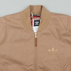 Adidas X Spitfire Silas Quilted Jacket - Cardboard 2716ba7b9