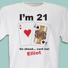 Card Me Personalized 21st Birthday T-Shirt #happybirthday #21st #gifts