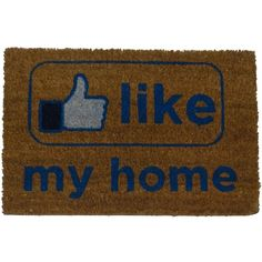 Felpudo Like my Home - Kook Shop #doormat #felpudo #entrada #puerta #recibidor Car Floor Mats, Fibres, Flooring, Diy, Dimensions, Home Decor, Products, Funny Messages, Entrance Gates