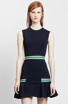 Christopher Kane Stripe Trim Knit Fit & Flare Dress available at #Nordstrom