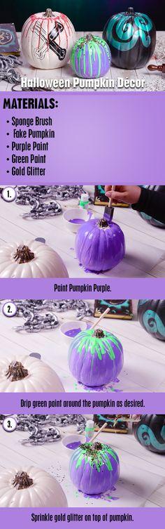 Descendants 2 Pumpkin Décor DIY | Get ready for Halloween by creating your very own Descendants 2 Inspired Pumpkins!