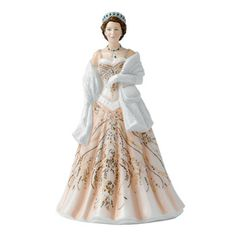 Queen Elizabeth II HN5706, From the Young Queens Collection; Ltd. 2,000, Royal Doulton Figurine from Seaway China Company