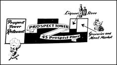 Map of Prospect Tower services, from Tudor City Confidential