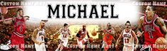 Personalized Chicago Bulls NBA Basketball Poster Custom Name Painting Banner Wall Birthday Decor ** Want to know more, click on the image.