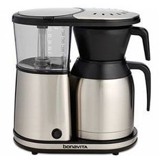 Shop for bonavita 8 cup coffee maker with thermal carafe at Bed Bath & Beyond. Buy top selling products like Bonavita® Thermal Carafe Coffee Brewer and Bonavita® 16 oz. Shop now! 5 Cup Coffee Maker, Best Drip Coffee Maker, Coffee Maker Reviews, Coffee Mugs, Drink Coffee, Coffee Beans, Coffee Type, Great Coffee, Black Coffee