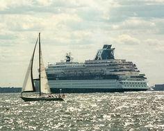 Celebrity Cruise Line Ship Leaving Lower New York Harbor July 8, 2000.     /Celebrity cruise line