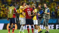 David Luiz consoling James