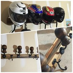 Homemade Motorcycle Helmet Rack (Organizers)