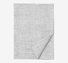 Washed linen tea towel with a woven pincheck - washed for suppleness and a slightly worn in feel. Woven by a traditional Lithuanian mill. Hanging loop.