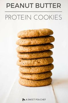 Peanut Butter Protein Cookies | 4 ingredients, refined grain-free, just deliciousness. www.asweetpeachef.com