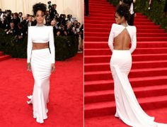 I just had to repin. She's beautiful. & stunning. Rihanna @ Met Gala 2014