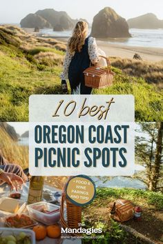 Looking for a picturesque outing with your partner in the Pacific Northwest? For Oregon Wine Month, we partnered with Portlandia Pinot to bring you 10 incredible Oregon Coast picnic spots! From rugged to romantic, we're sharing the best coastal destinations in our newest blog post. Save this post for PNW inspiration! #oregoncoast #picnic Pacific Ocean, Pacific Northwest, Wine Paring, Picnic Spot, Oregon Coast, British Columbia, North West, The Best, Coastal