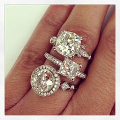 Never enough diamonds. Who says you can't have more than one engagement ring? @singlestonemissionstreet Hand crafted Single Stone originals. (213) 892-0772 www.singlestone.com #dtla #losangeles #diamonds #bling #neverenough #forever #fire #made #wow #pow #rings #handcrafted #tuesday #mine #wishlist #ice #candy #party #inspire
