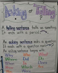 """From First Grade Fever...I often ask my kids, """"Are you asking me or telling me?"""" :)"""