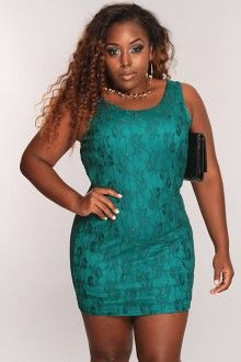 Dark Green Mesh Floral Overlay Sexy Party Dress AMI+