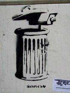 Trash Cam, Banksy street art style https://www.etsy.com/shop/urbanNYCdesigns?ref=hdr_shop_menu