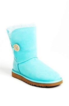 Cute Blue Bailey Button UGG Boot - Charming Blue Bailey Button UGG Boot