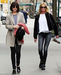 Mom-date: Looking more like sisters than mother and daughter, Dakota Johnson and Melanie Griffith stepped out together for lunch in New York on Friday
