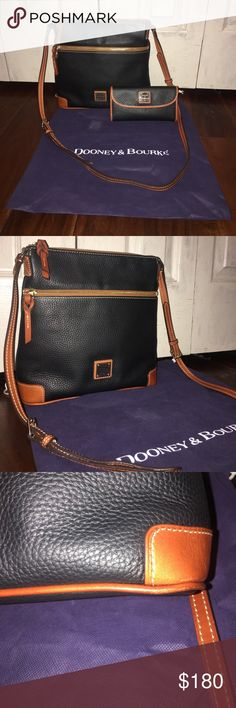 Authentic Dooney & Bourke In fabulous condition!! Only minor wear! This is such a beautiful set! Comes with the dust bag! Dooney & Bourke Bags Crossbody Bags