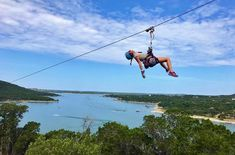 Lake Travis Zipline Adventures is the ultimate outdoor adventure in Austin and gives you the chance to ride on a crazy long zipline over Lake Travis. Zipline Adventure, Adventure Awaits, Adventure Travel, Road Trip Essentials, Road Trip Hacks, Road Trips, Lake Travis Austin, Austin Texas, Places To Travel