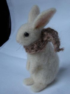 Needle Felted Bunny wool rabbit Easter decoration by OldFairyTales, $33.00