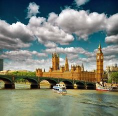 big ben, city, clouds, cloudy, england, london