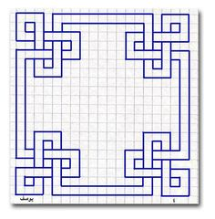 Blue geometric graph paper